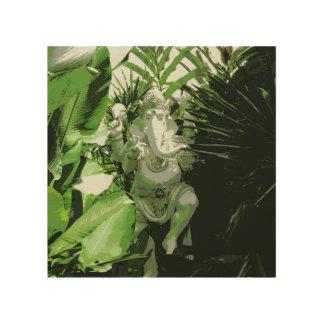 Ganesha hölzerne Wand-Kunst Holzwanddeko