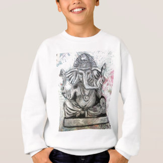 Ganesha in der Holzkohle Sweatshirt