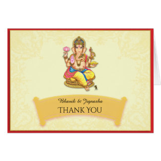 Ganesha indische Hochzeit danken Ihnen zu Karte