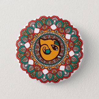 Ganesha Kunst Runder Button 5,7 Cm