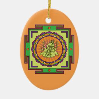 Ganesha Mandala Keramik Ornament