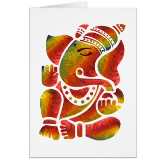 Ganesha Mehrfarbenmalerei Karte