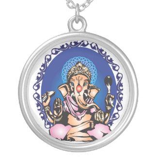 Ganesha Versilberte Kette