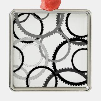 Gang-Ringe Silbernes Ornament