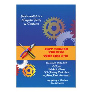 Gang-und Werkzeug-Einladung 12,7 X 17,8 Cm Einladungskarte