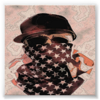 Gangsta angesagtes Hopfenschädel-Plakat Poster