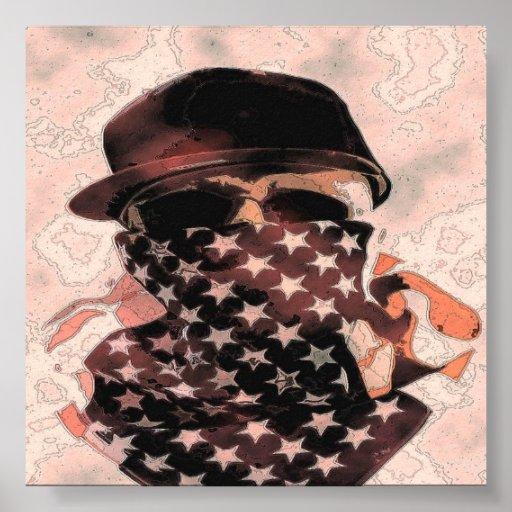 Gangsta angesagtes Hopfenschädel-Plakat