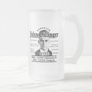 Gangster John Dillinger Mattglas Bierglas
