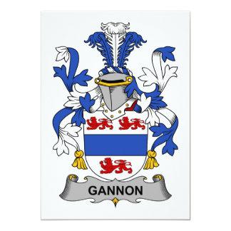 Gannon Familienwappen 12,7 X 17,8 Cm Einladungskarte