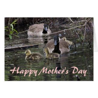 Gans-und der Gänschen-Mutter Tag Karte