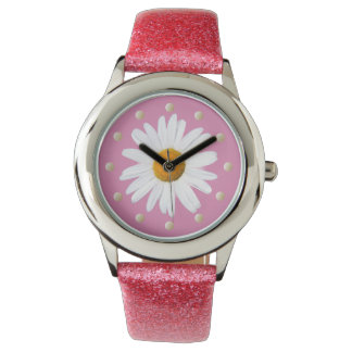 Gänseblümchen-Armbanduhr Armbanduhr