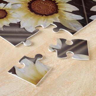 Gänseblümchen auf Braun Puzzle
