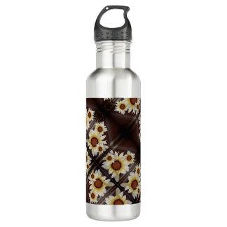 Gänseblümchen auf Braun Trinkflasche