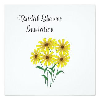 Gänseblümchen-billiges billiges Brautparty-Party Quadratische 13,3 Cm Einladungskarte