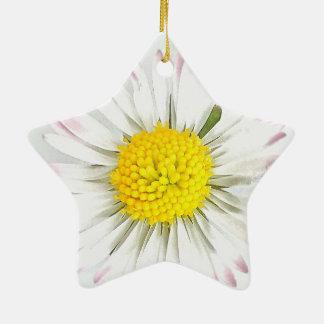 Gänseblümchen-Blume Dble-Versah Stern-Verzierung Keramik Ornament