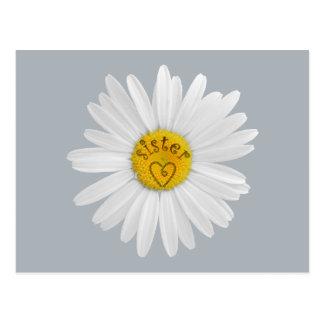 Gänseblümchen-Blume für Schwester-Kunst fertigen Postkarte
