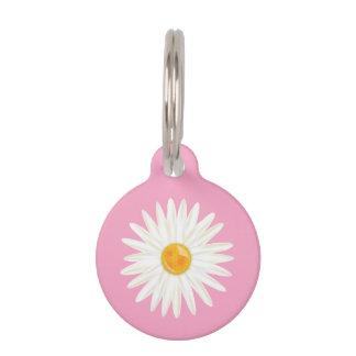 Gänseblümchen-Blume illustriert auf Rosa mit dem Tiermarke