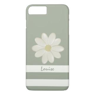 Gänseblümchen-Blumen-Creme Stripes den iPhone 8 Plus/7 Plus Hülle