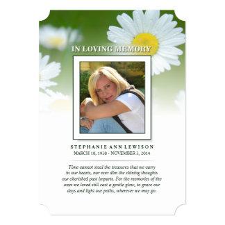 Gänseblümchen-Blumen-Foto-Erinnerungskarte - 12,7 X 17,8 Cm Einladungskarte