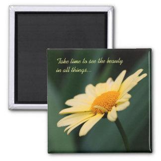 Gänseblümchen-Blumen-Inspirational Zitat-Magnet Kühlschrankmagnet