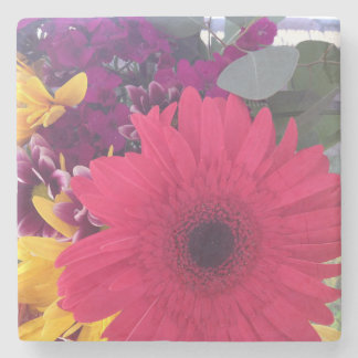 Gänseblümchen-Blumen Steinuntersetzer