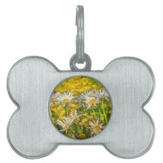 Gänseblümchen-Blumen Tiermarke