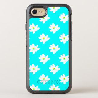 Gänseblümchen-BlumenTürkis-Vanessa Fave OtterBox Symmetry iPhone 8/7 Hülle