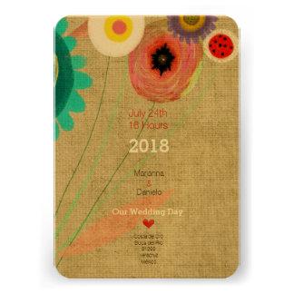 Gänseblümchen Boho Chic-Einladung