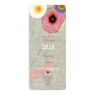 Gänseblümchen Boho Chic-Einladung 10,2 X 23,5 Cm Einladungskarte