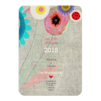 Gänseblümchen Boho Chic-Einladung 8,9 X 12,7 Cm Einladungskarte