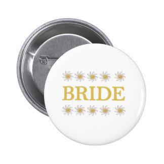 Gänseblümchen-Braut Runder Button 5,7 Cm