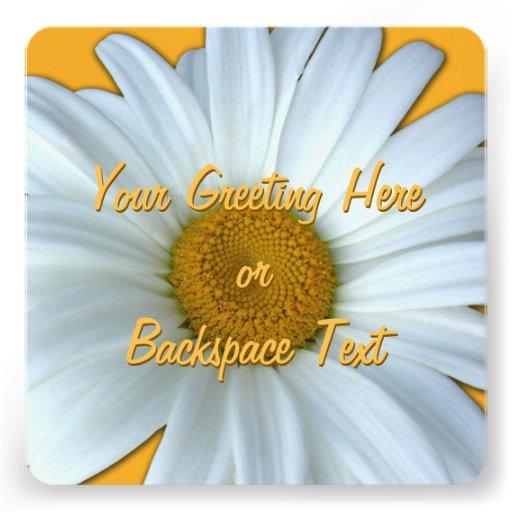 Gänseblümchen-Einladungs-personalisierte Personalisierte Ankündigungskarten