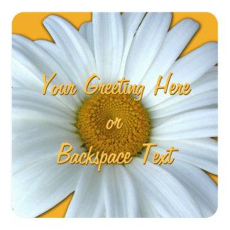 Gänseblümchen-Einladungs-personalisierte Quadratische 13,3 Cm Einladungskarte