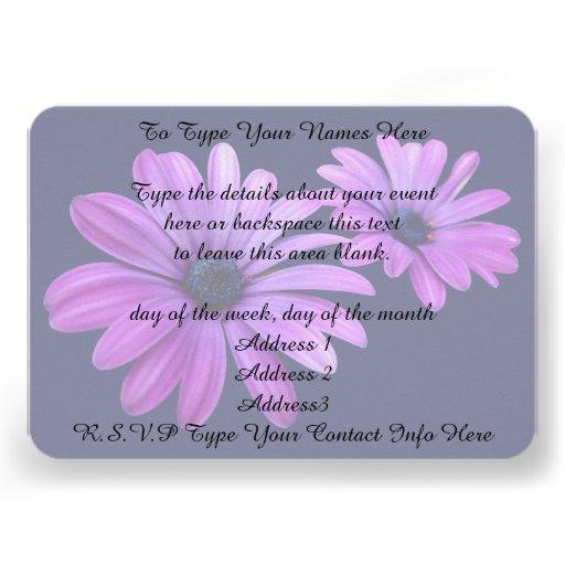 Gänseblümchen-Einladungs-personalisierte Individuelle Einladungskarte
