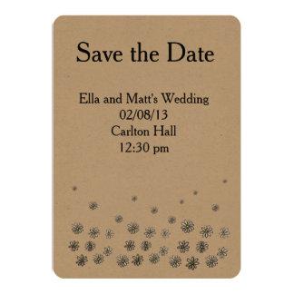 Gänseblümchen-Freuden-Hochzeit laden ein Karte