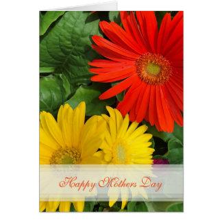 Gänseblümchen-glückliche Mutter-Tageskarte Grußkarte