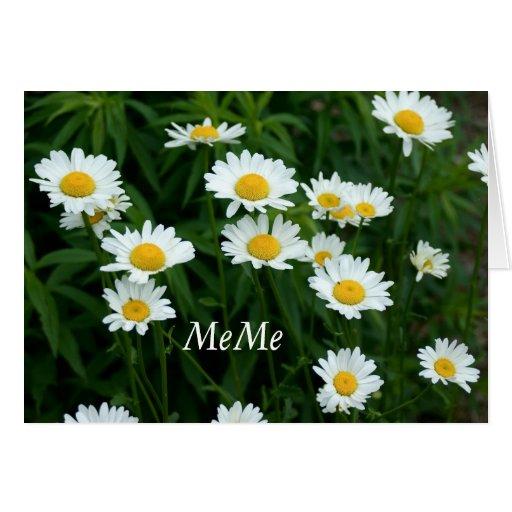 Gänseblümchen-Gruß-Karte für MeMe