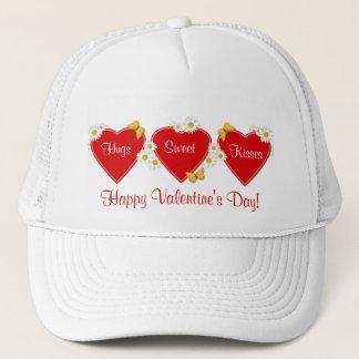 Gänseblümchen-Herz-Valentinstag-Hut Truckerkappe