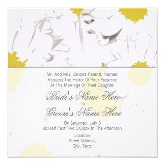 Gänseblümchen-Hochzeits-Einladung - von den Eltern Quadratische 13,3 Cm Einladungskarte