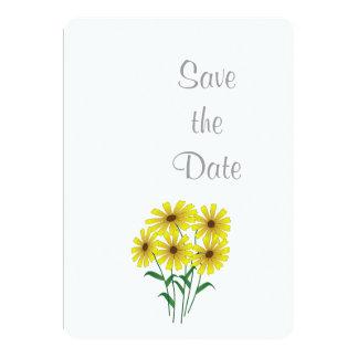 Gänseblümchen-Hochzeits-Tagesthema Save the Date 12,7 X 17,8 Cm Einladungskarte