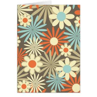Gänseblümchen im Karamell und im Blau Karte