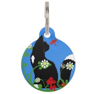 Gänseblümchen-Katzen-Haustier Haustiermarke