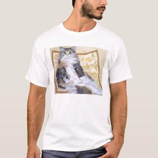 Gänseblümchen Mae Maine Waschbär-Katzen-Porträt T-Shirt