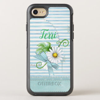Gänseblümchen mit blauen Streifen OtterBox Symmetry iPhone 8/7 Hülle