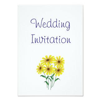 Gänseblümchen-moderne einfache elegante 12,7 x 17,8 cm einladungskarte