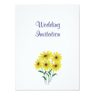 Gänseblümchen-moderne einfache elegante 16,5 x 22,2 cm einladungskarte