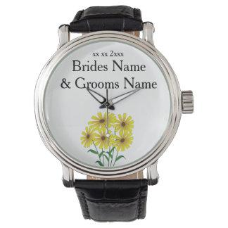 Gänseblümchen-moderne einfache elegante armbanduhr