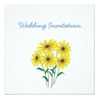 Gänseblümchen-moderne einfache elegante quadratische 13,3 cm einladungskarte
