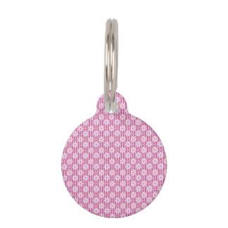 Gänseblümchen-Muster auf rosa Streifen Tiermarke