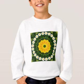 Gänseblümchen-Natur, Blume-Mandala Sweatshirt